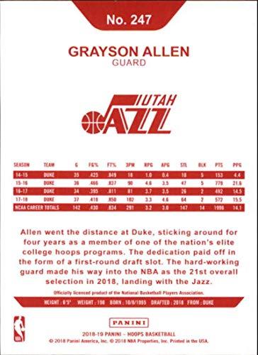 Amazon.com: 2018-19 Panini Hoops Red Backs #247 Grayson Allen Utah Jazz RC Rookie NBA Basketball Trading Card: Collectibles & Fine Art