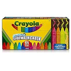 Crayola Sidewalk Chalk, Washable, Outdoo...