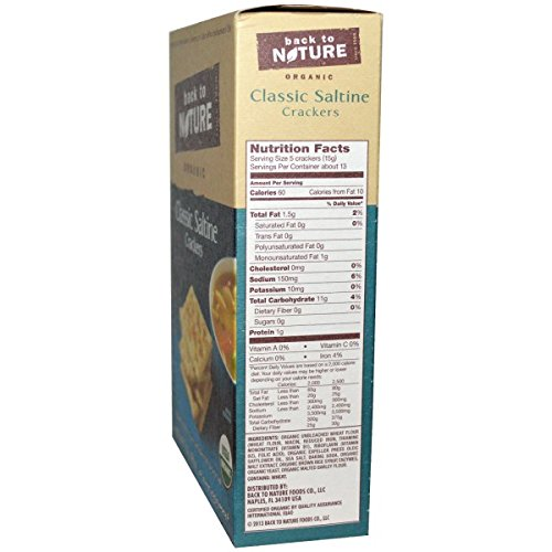 Back to Nature, Organic Classic Saltine Crackers, 7 oz(Pack of 3)
