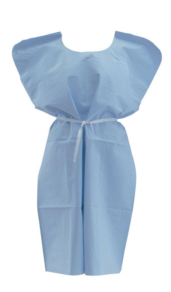 Medline NON24243 Disposable Patient Gowns, Large, Purple (Case of 50)