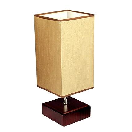 KTYX Moderno Minimalista IKEA lámpara de Mesa de Madera ...