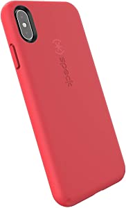 Speck Products CandyShell Fit iPhone Xs Max Case, Mercury Red/Mercury Red
