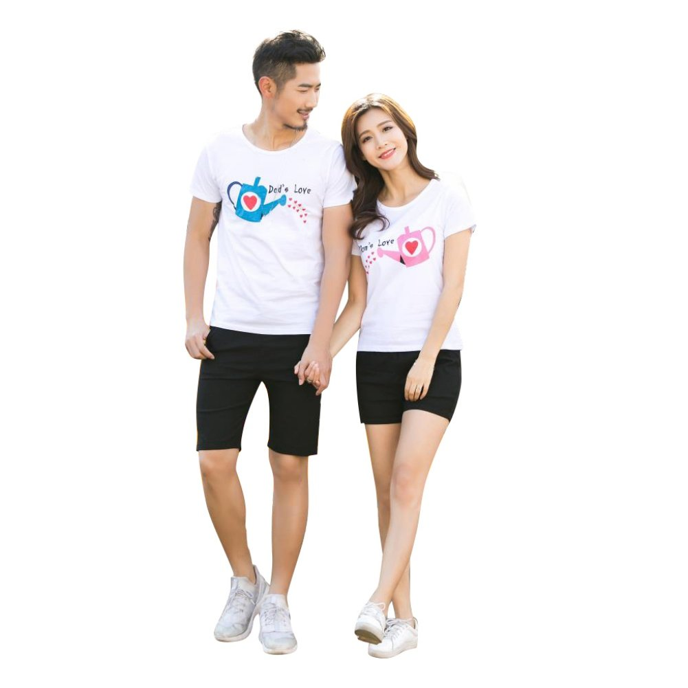 3f549e6338 Amazon.com: Gsha Matching Family T-Shirt Cultivate Love Summer Short-Sleeve  Top Parent Child Outfits: Clothing