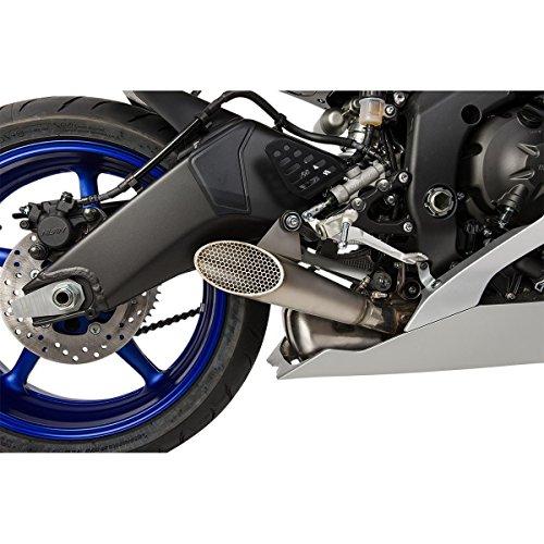(Hotbodies Racing 80801-2102 Megaphone Exhaust Slip-On Shot Pin Mesh Cap (YAM. YZF-R6 06-16'))