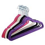 Kitchen Bar Athens 60PCS Non Slip Velvet Clothes Suit/Shirt/Pants Hangers White, Black, Purple,Red