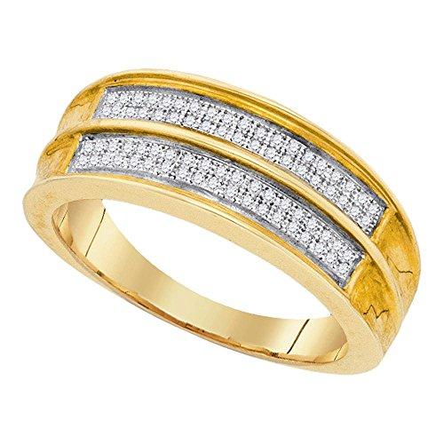 Mens 1/5 Ct T Diamond Band - 1