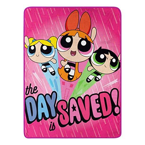 "Cartoon Network Micro Raschel Throw Blanket Powerpuff Girls, Day Saved, 46"" x 60"""