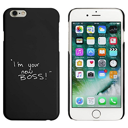 Schwarz 'I'm Your New Boss' Hülle für iPhone 6 u. 6s (MC00028489)