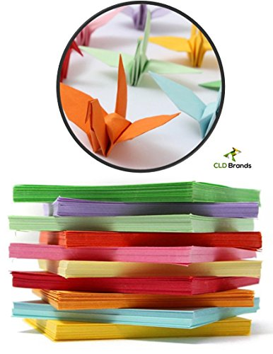 CLD Brands Premium Origami Fun Kit - Bonus DYI Origami Designs eBook - 100 Colorful Sheets - 10cm x 10cm - Art and Crafts - Educational Fun (10x10cm) (Dollar Bill Gift Box)