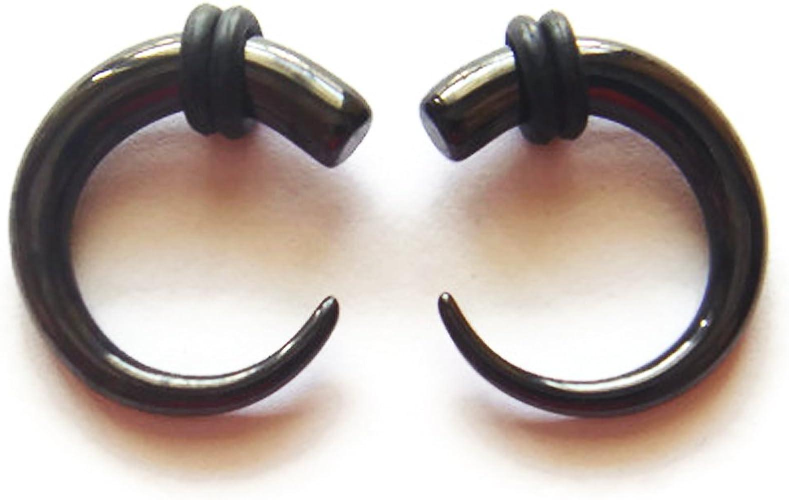 Amazon Com Pair 4g 4 Gauge 5mm Ear Plugs Ring Rings Earrings