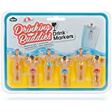 NPW Drinking Buddies Cocktail/Wine Glass Markers, Multicolor