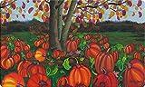 Toland Home Garden 800407 Pumpkin Pickin' Doormat, 18'' x 30'', Multicolor