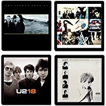 U2 Coaster Gift Collection - (4) Different Album Covers Reproduced Onto Absorbent, Soft, Drink Coasters