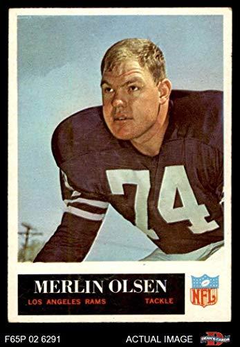 - 1965 Philadelphia # 94 Merlin Olsen Los Angeles Rams (Football Card) Dean's Cards 4 - VG/EX Rams