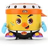Toyk Kids Toys Learning Drum Toy with Lights Adjustable Sound Educational Music Toys for 1 2 3 4 5 Year Old Boys Girls