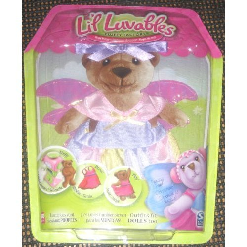 Lil Luvables Fluffy Factory Bear Wear Fairy Angel Outfit