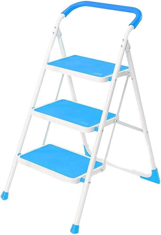 Bseack_store Escalera Escalera Plegable de 2/3 escalones Escalera Multifuncional de la Banda de Rodadura for la Entrada Capacidad de rodamiento en la Cocina: 330 Libras (Color : 3Steps): Amazon.es: Hogar