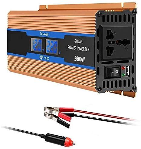 Inversor De Corriente 1200W 2600W, Dc 12V 24V 48V 60V 72V A ...
