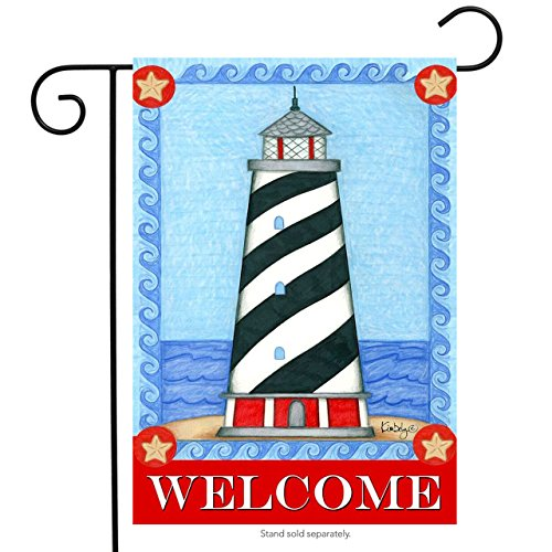 Guiding Light Summer Garden Flag Welcome Lighthouse Nautical 12.5