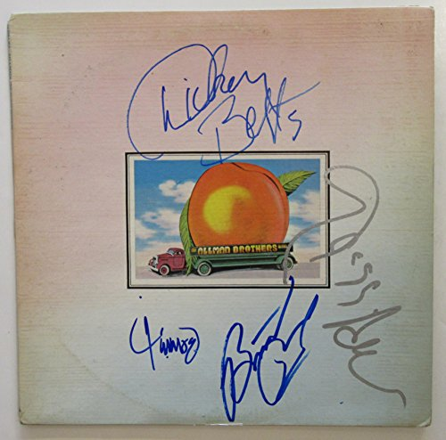 The Allman Brothers Band Signed Album – Eat A Peach (signed by all four). BAS COA.