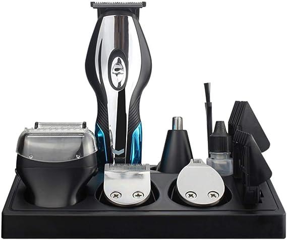 Corte de pelo combinación 6-en-1 cortauñas bigote trimmer cuerpo afeitadora nariz cortapelos diseño trimmer: Amazon.es: Salud y cuidado personal