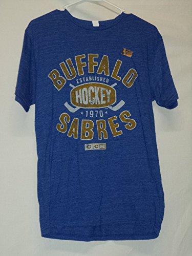 (Buffalo Sabres CCM Est. 1970 Distressed T-Shirt S)