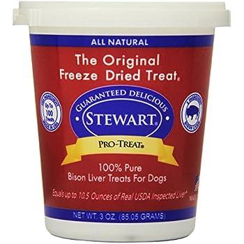 Stewart Pro-Treat Bison Liver Freeze Dried Dog Treats, 3