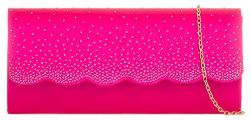 Para Mano Handbags Cartera Mujer Material Sintético Fucsia Girly De UwYqdtU