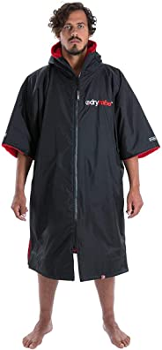 Dryrobe Advance Short Sleeve Change Robe - Stay Warm and Dry - Windproof Waterproof Oversized Swim Parka - Swimming/Surfing/OCR Events