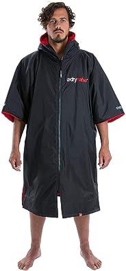 Dryrobe Advance Short Sleeve Change Robe - Stay Warm and Dry - Windproof Waterproof Oversized Swim Parka - Swimming/Surfing/O