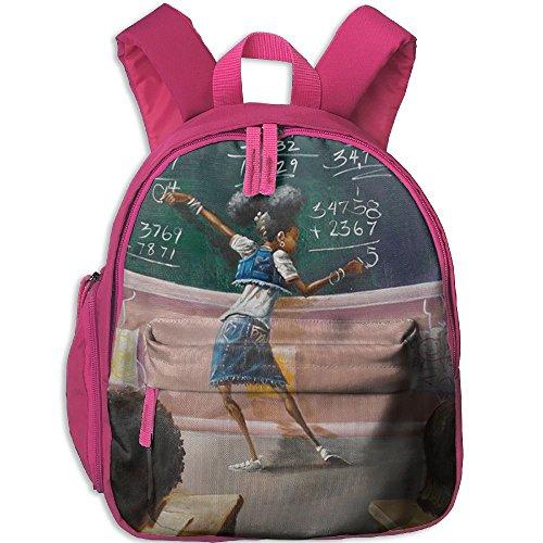 Kindergarten Backpack African American Student Children School Bag -