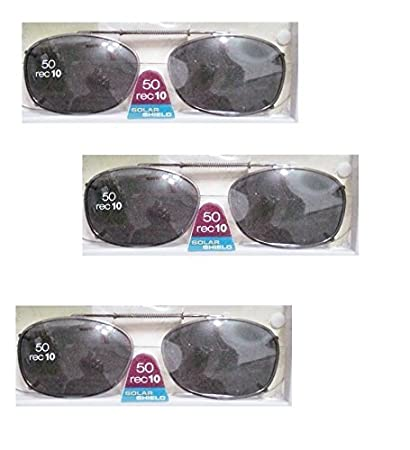 d6915417a3 Image Unavailable. Image not available for. Color  Solar Shield 50 Rec 10 Full  Frame Gray Polarized Lens Clip on Sunglasses ...