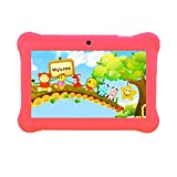 """Tagital 7"""" Quad Core Android Kids Tablet, with WiFi and Camera and Games, HD Kids Edition with Kid Mode Pre-Installed 2017 Version (Pink)"""