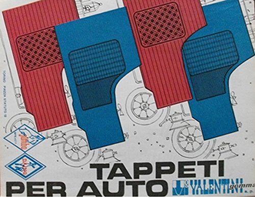1964 TAPPETI PER AUTO *VALENTINI* PLASTIC FLOOR MATS FOR CARS VINTAGE COLOR AD - ITALIAN - NICE ORIGINAL !! (ATRM964)