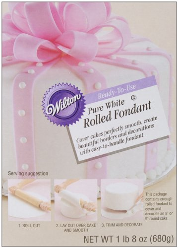 Wilton Pure White Rolled Fondant, 1-Pound 5-Ounce