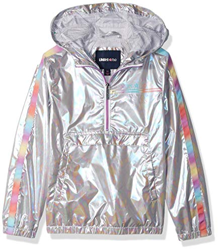 - Limited Too Girls' Little Pullover Windbreaker, Silver, 6X