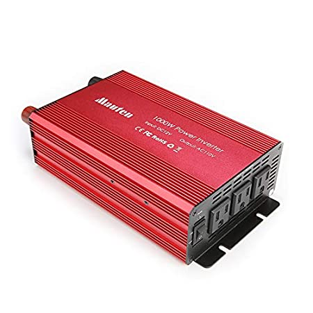 Car Power Inverter DC 12V to 110V 2 AC Outlets Home Car RV Solar Power Converter for Household Appliances in case Emergency Storm and Outage 800W Power Inverter Hurricane Peak 1600w