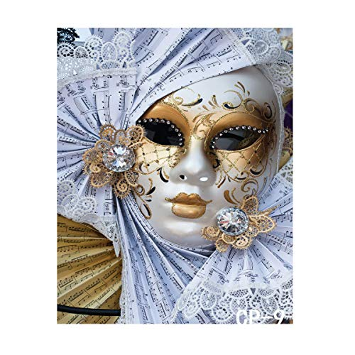 Custom Masquerade Mask - LYWYGG 5x7ft Masquerade mask Fiesta Birthday Music Backgrounds Party backdrops Custom Birthday Party Photographic Photo Studio CP-9