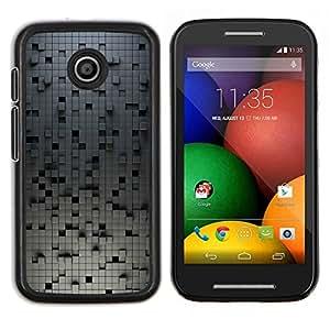 TECHCASE---Cubierta de la caja de protección para la piel dura ** Motorola Moto E ( 1st Generation ) ** --Gris Patrón minimalista