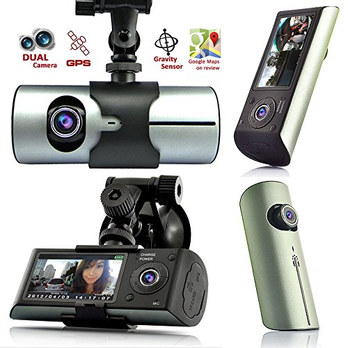 Indigi GPS Tracker Dash-Cam Dual Camera Driving