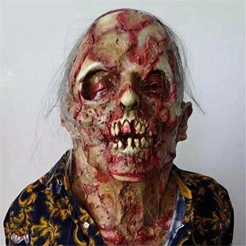 KathShop Halloween Adult Mask Zombie Mask Latex Bloody