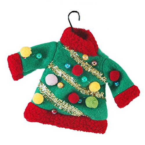 ugly sweater ornament - How To Decorate A Ugly Christmas Sweater