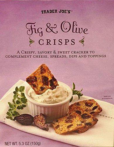 Trader Joes Crispy and Savory Sweet Fruit Crisps 5.3oz (Fig & Olive)