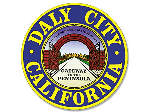 American Vinyl Daly California City Seal Sticker (Decal Logo west Coast ca SoCal)