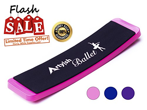 Artyish Turning Board for Ballet Dance | Turn Board Pirouettes Board for Dancers | Improve Balance and Turns | Training Practicing Tool-Pink