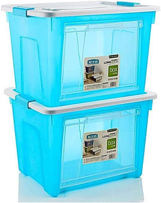Cajas de Almacenamiento/Calidad PP Plástico/con Tapa Sellado Grande Grande Fuerte Contenedor apilable Mango Hebillas Ajuste Humedad y Polvo/Hogar / Exterior: Amazon.es: Hogar