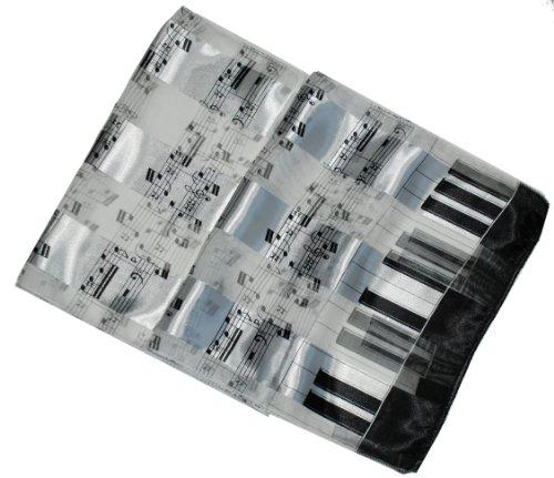 Buy cheap satin stripe musical instrument scarf sash belt white black piano notes