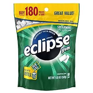 Eclipse Spearmint Sugarfree Gum, 180 Piece Bag