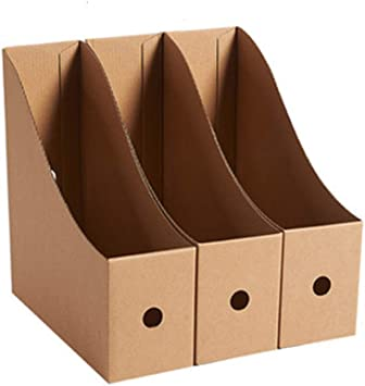 WJF Canasta de archivos Titular De Archivo Caja De Almacenamiento De Carpetas Caja De Acabado Estante De Almacenamiento Caja De Carpeta Oficina Papel Kraft Almacenamiento De Escritorio Soporte De Libr: Amazon.es: Electrónica