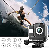 DBPOWER N6 4K WiFi Action Camera, 2.31 LCD Touchscreen 20MP Sony Image Sensor 170° Wide-Angle Waterproof Sports Camera, 2 Batteries included in Accessories Kit (2017 Version)